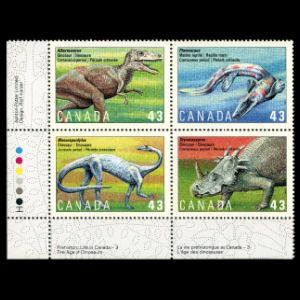 Dinosaurs on stamps of Canada 1994