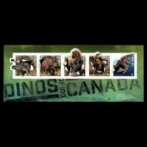 Dinosaurs and other prehistoric animals on stamps of Canada 2015