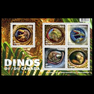 Dinosaurs and prehistoric animals on stamp of Canada 2016