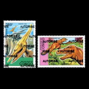 Dinosaurs on stamps of Congo 1998