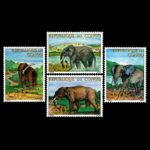 Dinosaurs and other prehistoric animals on stamps of Comor islands 1994