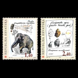 prehistoric animals on stamps of Croatia 1997