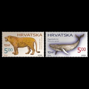 Prehistoric animals on stamps of Croatia 2016