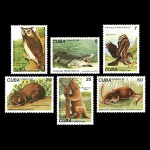 Prehistoric animals on stamps of Cuba 1982