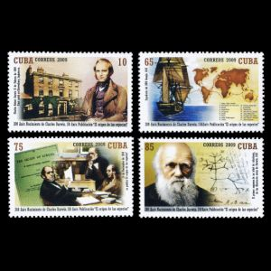 Charles Darwin on stamps of Cuba 2009