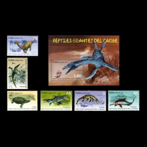 Giant reptiles of Caribbean on stamps of Cuba 2013