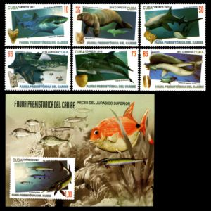 Prehistoric Fauna of Caribbean on stamps of Cuba 2015