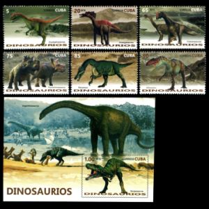 Dinosaurs on stamps of Cuba 2016