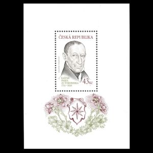 Paleontologist Kaspar Maria von Sternberg on stamps of Czech Republic 2011