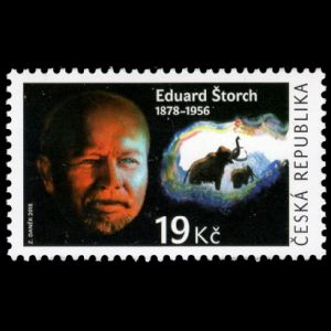 Eduard Storch and Mammoth on stamps of Czech Republic 2018