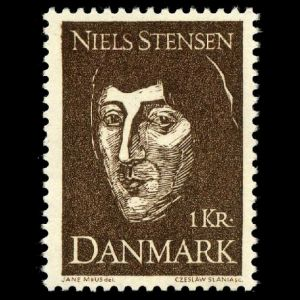 Niels Stensen on stamps of Denmark 1969