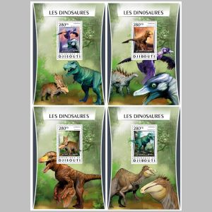 Dinosaurs on stamps of Djibouti 2017