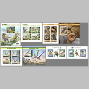 Dinosaurs and other prehistoric animals on stamps of Djibouti 2020