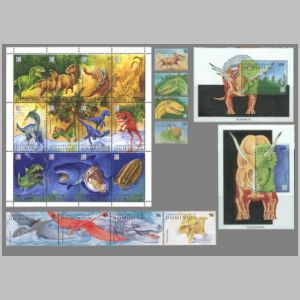 Dinosaurs on stamps of Dominica 1992
