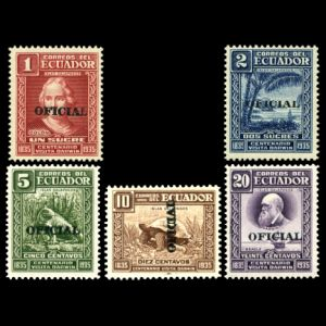 Charles Darwin on stamps of Ecuador 1936