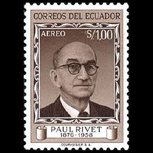 French Anthropologist Paul Rivet on stamps of Ecuador 1959