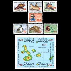 Charles Darwin on stamps of Ecuador 1986