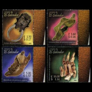 Fossils on stamps of el Salvador 2006