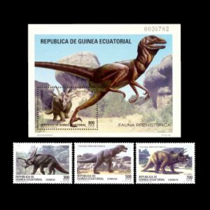 Prehistoric animals on stamps of Equatorial Guinea 1994