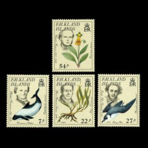 Charles Darwin and some other Famous Naturalist on stamps of Falkland Islands 1985