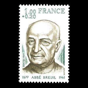 Abbe Breuil on stamp of France 1977