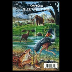 prehistoric animals on stamps of France 2008