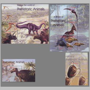 Dinosaurs on stamps of Gambia 2003