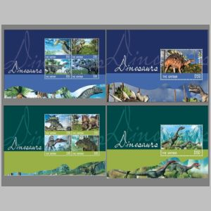 Dinosaurs on stamps of Gambia 2014