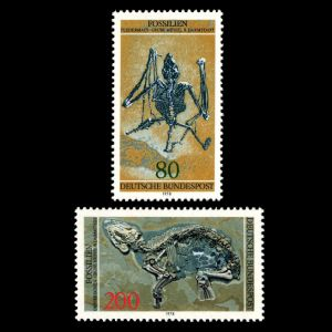fossils of Messel Pit  on stamp of Germany 1978