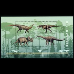 Dinosaurs on stamps of Germany 2008