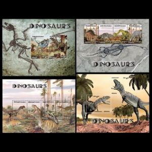 Dinosaurs on stamps of Ghana 2014