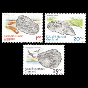 Fish fossil on stamps of Greece 1979
