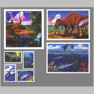 Dinosaurs on stamps of Grenada 1997