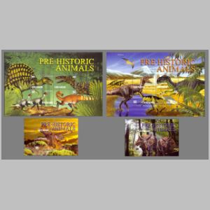 Dinosaurs on stamps of Grenada 2003
