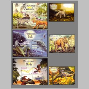 Dinosaurs on stamps of Grenada 2005