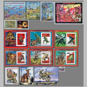 Dinosaurs and other prehistoric animals on stamps of Guinea 2009
