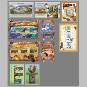 Dinosaurs and other prehistoric animals on stamps of Guinea 2013