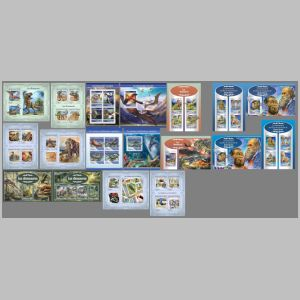 Dinosaurs and other prehistoric animals on stamps of Guinea 2017