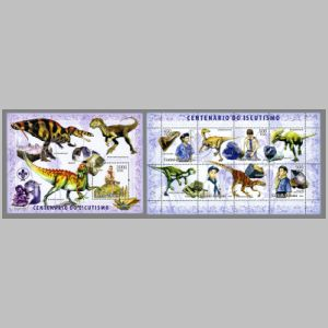 Dinosaurs and other prehistoric animals on stamps of Guinea Bissau 2006
