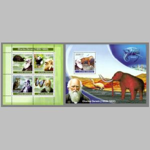 Dinosaurs and other prehistoric animals on stamps of Guinea Bissau 2007