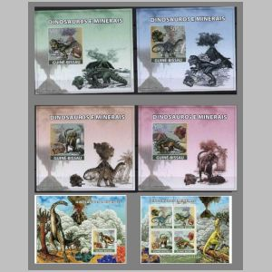 Dinosaurs and other prehistoric animals on stamps of Guinea Bissau 2008