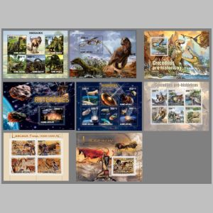 dinosaurs on stamps of Guinea Bissau 2010