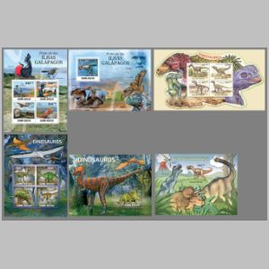 Dinosaurs and other prehistoric animals on stamps of Guinea Bissau 2011