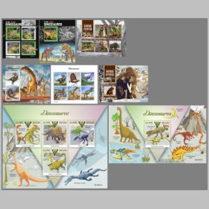 Dinosaurs and other prehistoric animals on stamps of Guinea Bissau 2019