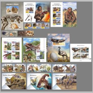 Dinosaurs and other prehistoric animals on stamps of Guinea Bissau 2020
