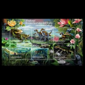 Dinosaurs and other prehistoric animals on stamps of Hungary 2020
