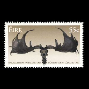 Prehistoric animals on stamps of Ireland 2007