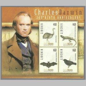 Charles Darwin on stamp of Lesotho 2009