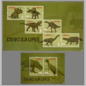 Dinosaurs and prehistoric animals on stamp of Lesotho 2012