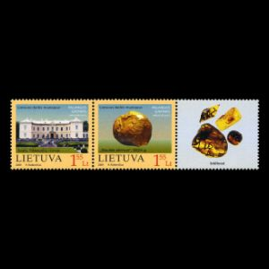 prehistoric insects in amber on stamp of Lithuania 2009